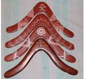 Painted boomerangs